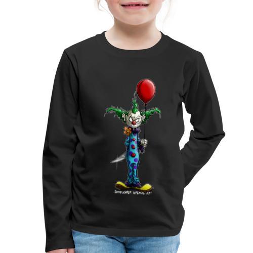 klaun tee - Långärmad premium-T-shirt barn
