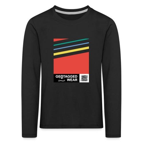 Unisex Stripes Pantone Colored - Kinder Premium Langarmshirt