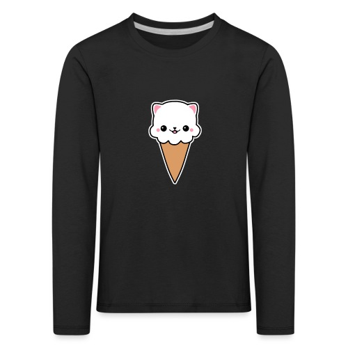 Eis Katze Vanille - Kinder Premium Langarmshirt