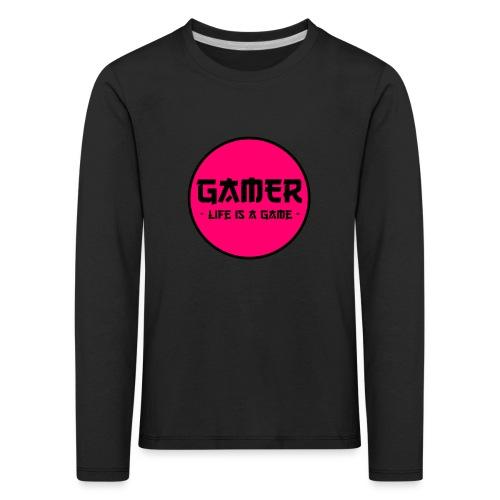 Gamer Life is a Game - Kinder Premium Langarmshirt