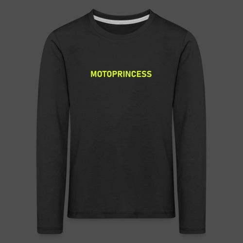 moto księżniczka - Koszulka dziecięca Premium z długim rękawem