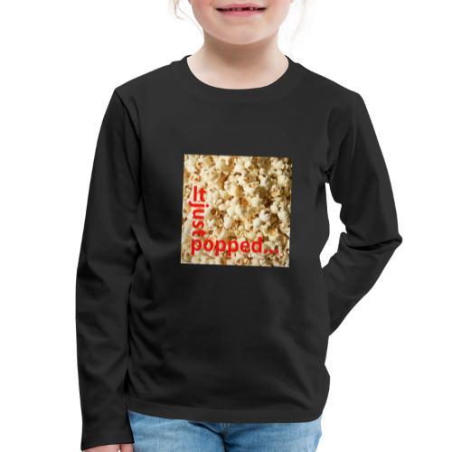 Popcorn - Långärmad premium-T-shirt barn