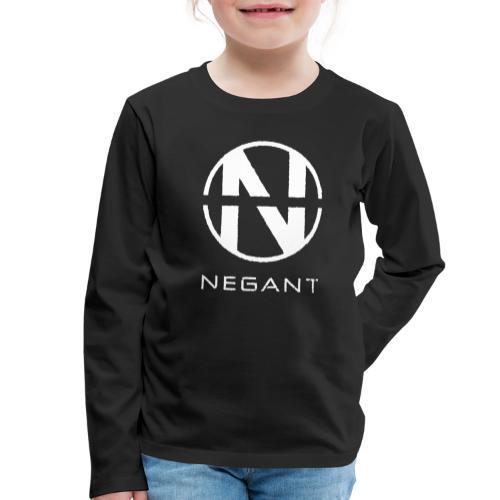 White Negant logo - Børne premium T-shirt med lange ærmer