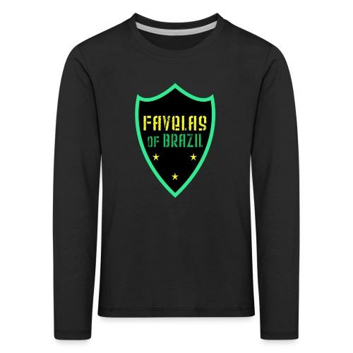 FAVELAS OF BRAZIL NOIR VERT DESIGN - T-shirt manches longues Premium Enfant