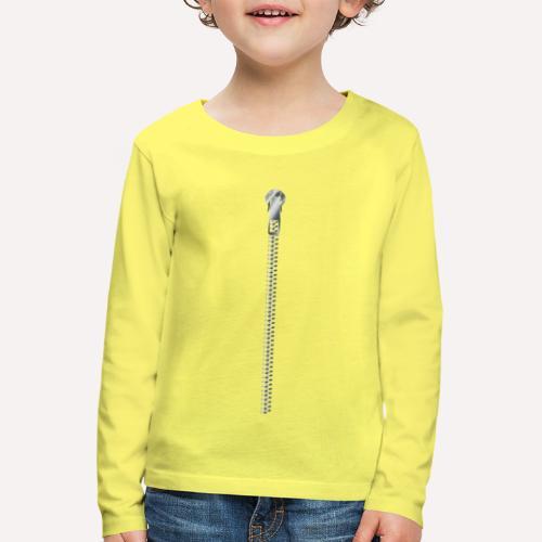 Zipper Funny Surprising T-shirt, Hoodie,Cap Print - Kids' Premium Longsleeve Shirt