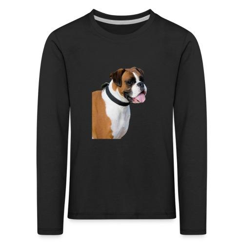 boxer hund png isolated boxer dog animal portrait - Långärmad premium-T-shirt barn