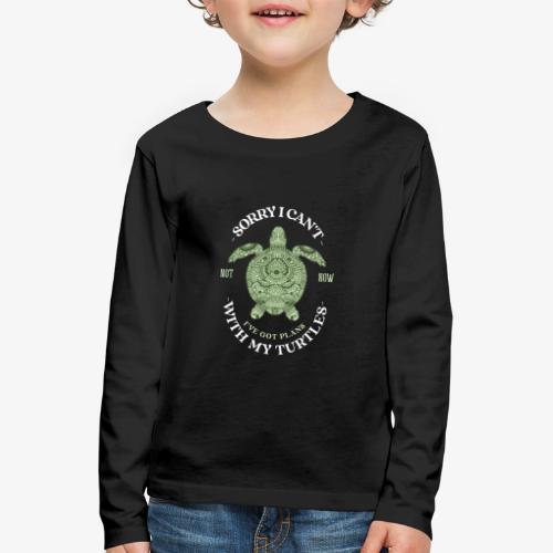 Turtleplans - Lasten premium pitkähihainen t-paita