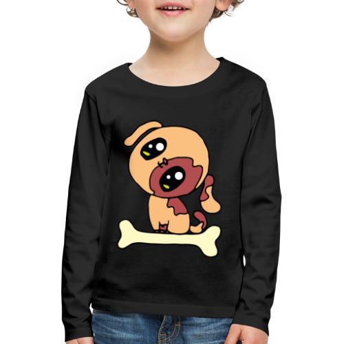 Kawaii le chien mignon - T-shirt manches longues Premium Enfant