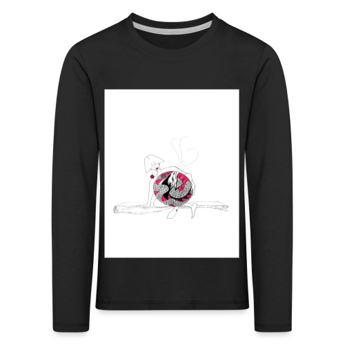 red lady - Kids' Premium Longsleeve Shirt