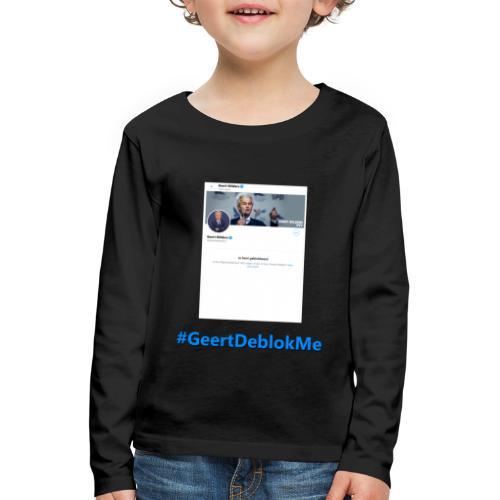 #GeertDeblokMe - Kinderen Premium shirt met lange mouwen