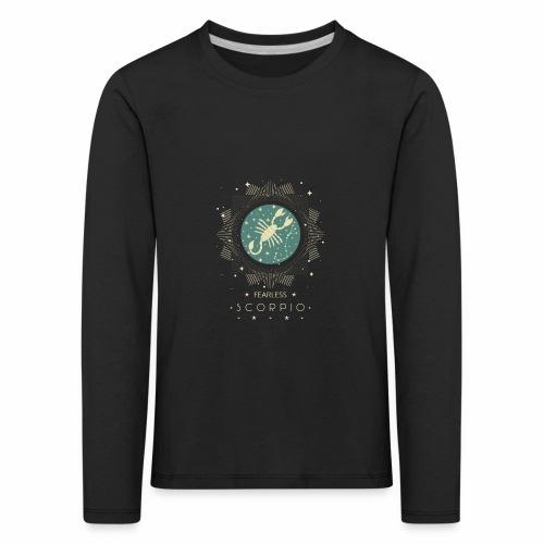 Sternzeichen Furchtloser Skorpion Oktober November - Kinder Premium Langarmshirt