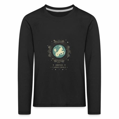 Sternzeichen Ehrgeiziger Steinbock Dezember Januar - Kinder Premium Langarmshirt