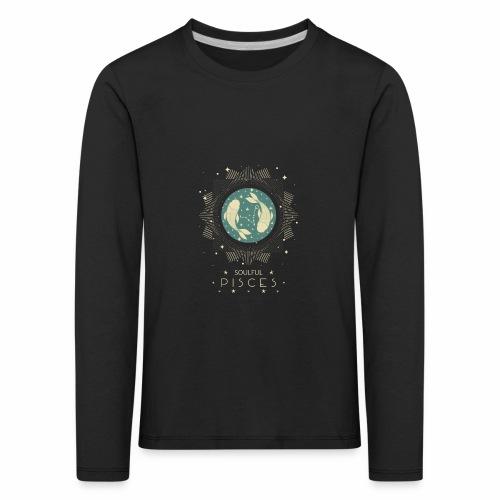 Sternzeichen Pisces Seelvolle Fische Februar März - Kinder Premium Langarmshirt