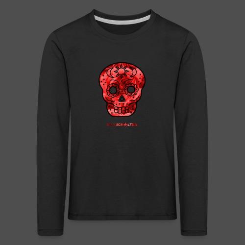 Skull Roses - Koszulka dziecięca Premium z długim rękawem