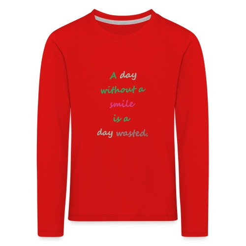 Say in English with effect - Kids' Premium Longsleeve Shirt