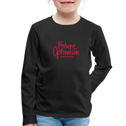 Future Optimism Red - Kinder Premium Langarmshirt