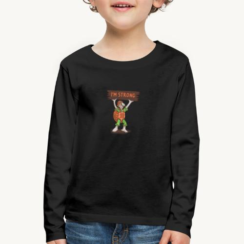 Turtle mit Power - Kinder Premium Langarmshirt