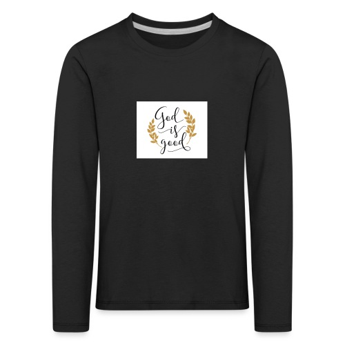 God is good label Jetzinger - Kinder Premium Langarmshirt