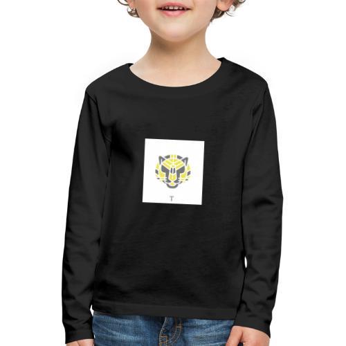 Tiger fra jungle - Børne premium T-shirt med lange ærmer