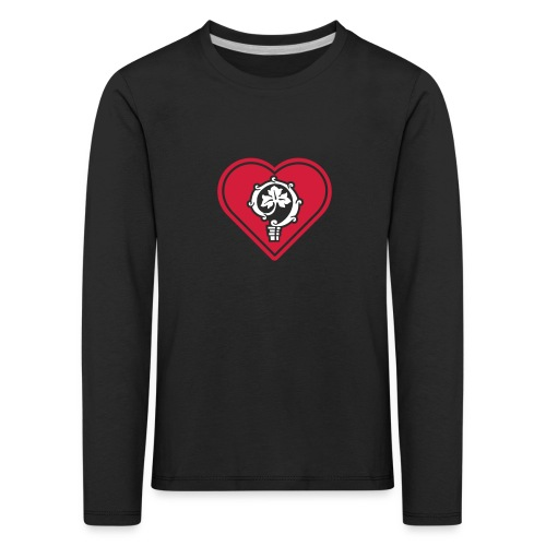 herz shirt schwarz hoch 25cm ok - Kinder Premium Langarmshirt