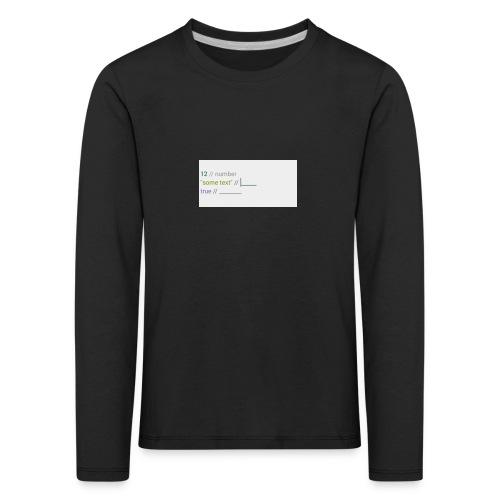 code - T-shirt manches longues Premium Enfant