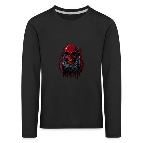 Red Skull in Chains - Kids' Premium Longsleeve Shirt