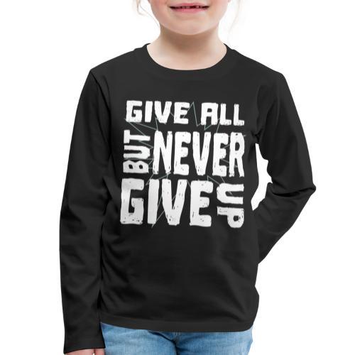 LIMITIERT - Motivation ERFOLG - Kinder Premium Langarmshirt