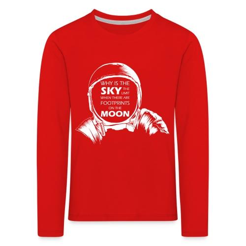 Astronaut - Footprints on the Moon - Kinder Premium Langarmshirt