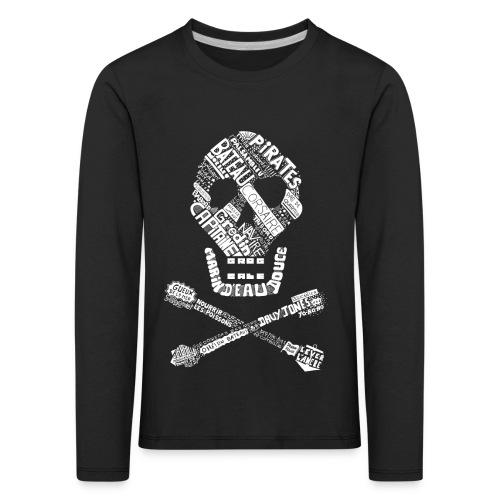 Tête de mort mots blanc - T-shirt manches longues Premium Enfant