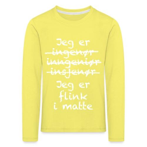 Flink i matte - Premium langermet T-skjorte for barn