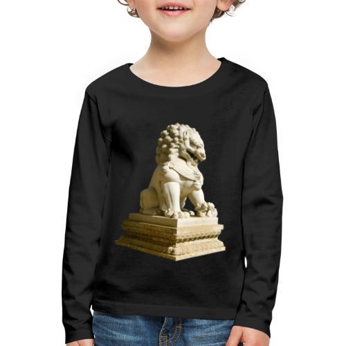 Fu Hund Tempelwächter Wächterlöwe Buddha China - Kinder Premium Langarmshirt