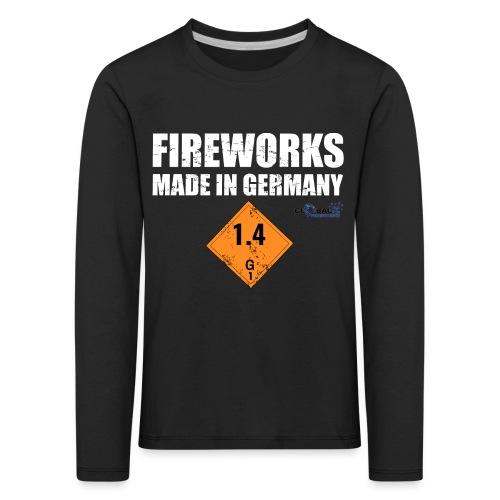 Feuerwerk aus Deutschland Pyrotechnik - Kinder Premium Langarmshirt