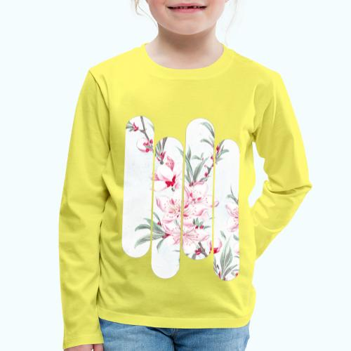 Vintage Japan watercolor flowers - Kids' Premium Longsleeve Shirt
