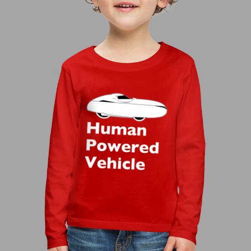 Quest Human Powered Vehicle 2 white - Lasten premium pitkähihainen t-paita