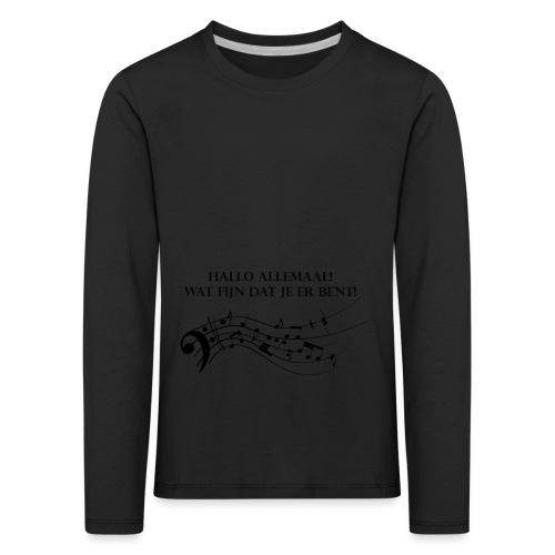 Hallo allemaal! - Kinderen Premium shirt met lange mouwen