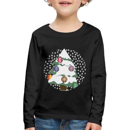 Christmas tree in snowstorm - Kids' Premium Longsleeve Shirt
