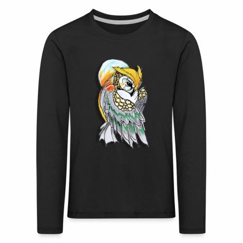 Cosmic owl - Camiseta de manga larga premium niño