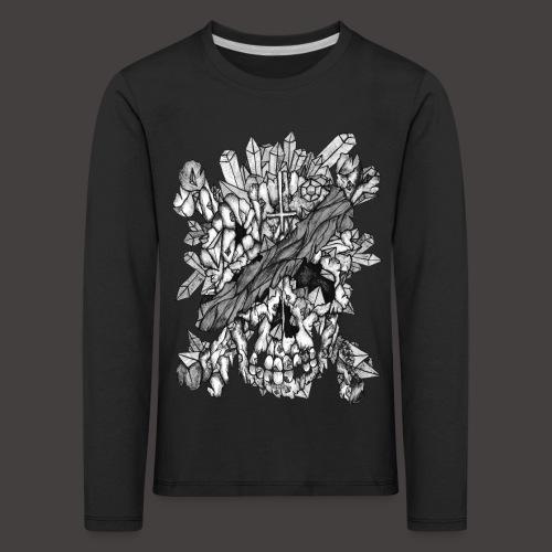 Crane de Pirate de Cristal Noir et Blanc - T-shirt manches longues Premium Enfant