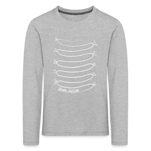 Wiener Illusion (weiß auf schwarz) - Kinder Premium Langarmshirt