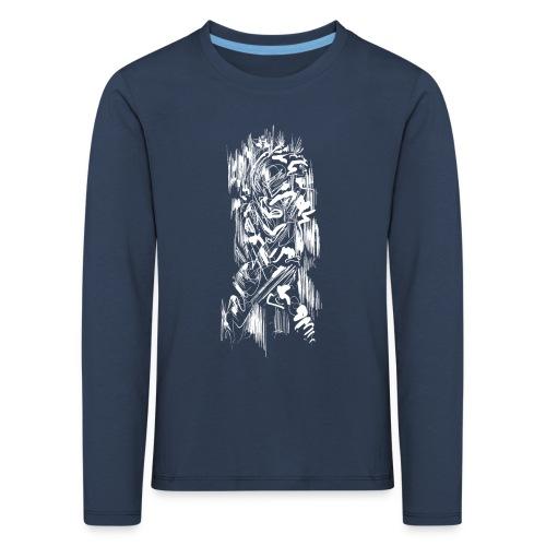 Samurai / White - Abstract Tatoo - Kids' Premium Longsleeve Shirt