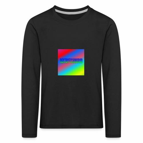 Mikkels Minecraft Navn - Børne premium T-shirt med lange ærmer