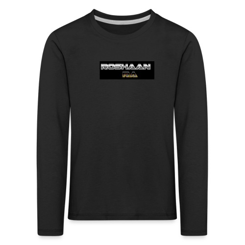 RoshaanRa GreyLogo - Kids' Premium Longsleeve Shirt