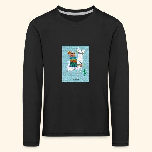 Lama Gang - Kinder Premium Langarmshirt