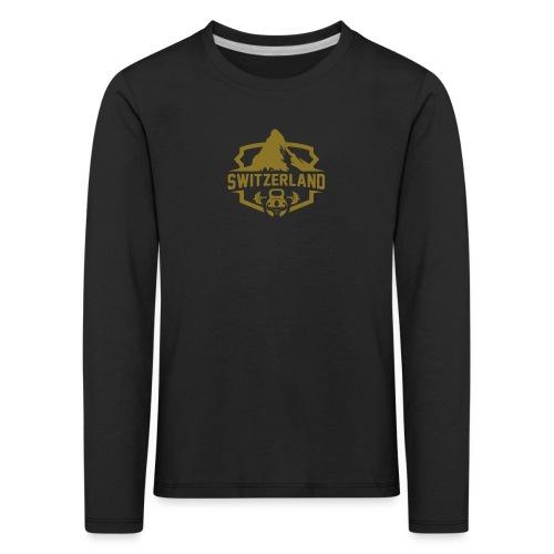 Swiss Mountain _ Gold Edtion - Kinder Premium Langarmshirt