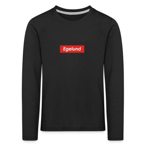 Albert Egelund Box Logo - Børne premium T-shirt med lange ærmer