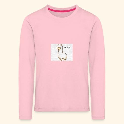 lama / alpaca - Kinder Premium Langarmshirt