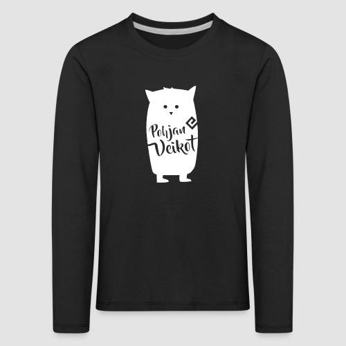 Veikko-pöllö valkoinen - Lasten premium pitkähihainen t-paita