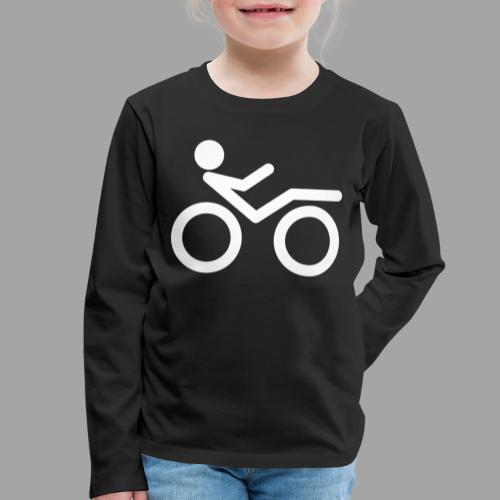 Recumbent bike white 2 - Lasten premium pitkähihainen t-paita
