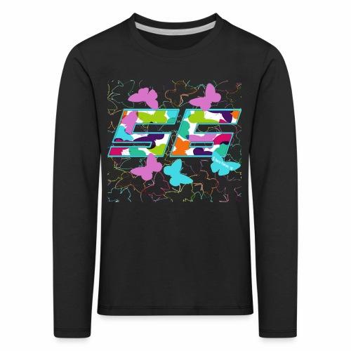 Dorsal mariposas de colores - Camiseta de manga larga premium niño
