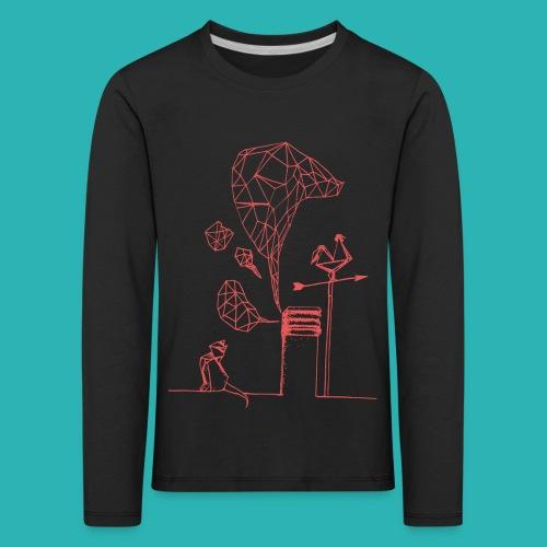 Carta_gatta_pink-png - Maglietta Premium a manica lunga per bambini